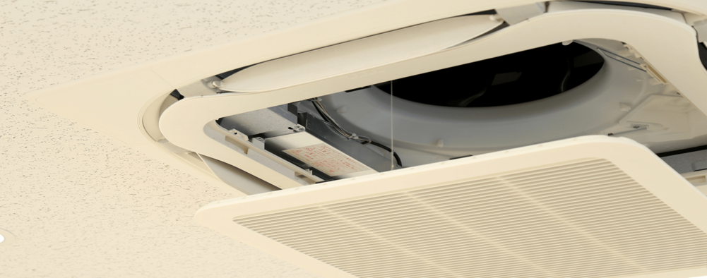 福岡県朝倉郡東峰村のエアコンクリーニング / 天井埋め込みタイプ